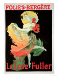 "Reproduction of a Poster Advertising ""Loie Fuller"" at the Folies-Bergere  1893"