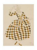 Costume Design for Columbine  from Sleeping Beauty  1921