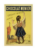 """Reproduction of a Poster Advertising """"Menier"""" Chocolate  1893"""