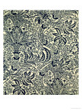 Wallpaper with Navy Blue Seaweed Style Design