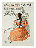 "Reproduction of a Poster Advertising the ""Salon National De La Mode "" Rapp Gallery  Paris  1896"