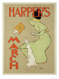 "Reproduction of a Poster Advertising ""Harper's Magazine  March Edition "" American  1894"
