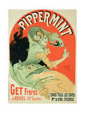 """Reproduction of a Poster Advertising """"Pippermint """" 1899"""