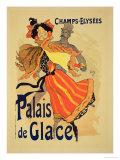 "Reproduction of a Poster Advertising the ""Palais De Glace "" Champs Elysees  Paris  1896"