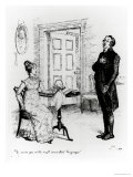 """Mr Collins and Elizabeth  from """"Pride and Prejudice"""" by Jane Austen circa 1894"""