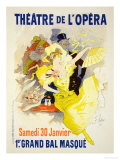 "Reproduction of a Poster Advertising the First ""Grand Bal Masque "" Theatre De L'Opera  Paris  1896"
