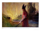As the Flames Rise  Odin Leaves  1909