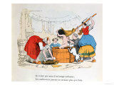 "The Compulsory Bath  Illustration for ""Les Defauts Horribles "" circa 1860"