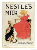 Poster Advertising Nestle's Swiss Milk  Late 19th Century
