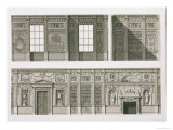 Elevation of the Library at Syon House  circa 1760-69