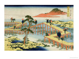 Eight Part Bridge  Province of Mucawa  Japan  circa 1830