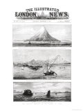 "The Island of Krakatoa  Front Cover of ""The Illustrated London News "" 8th September 1883"