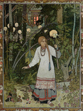 "Vassilissa in the Forest  Illustration from the Russian Folk Tale  ""The Very Beautiful Vassilissa"""