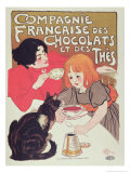 Poster Advertising the Compagnie Francaise Des Chocolats Et Des Thes  circa 1898