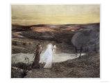 "Dante and Beatrice  from ""L'Estampe Moderne "" Published Paris 1897-99"
