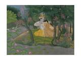 Krishna and Radha Embracing in a Grove  Kangra  Himachal Pradesh  Pahari School  circa 1785