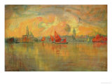 View of Venice from the Sea  1896