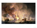 Battle of the Nile  1st August 1798 at 10Pm  1834