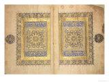 Illuminated Pages from a Koran Manuscript  Il-Khanid Mameluke School