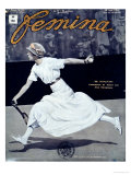 "Miss Broquedis  Olympic Tennis Champion  Front Cover of ""Femina "" Issue 278  15th August 1912"