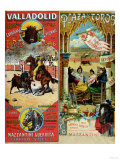 Posters Advertising Bull-Fights in Valladolid  1896 and in Bayonne  1897