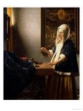 Woman Holding a Balance  circa 1664