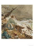 Grace Darling and Her Father Saving the Shipwrecked Crew  17th September 1838