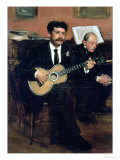 Portrait of Lorenzo Pagans  Spanish Tenor  and Auguste Degas  the Artist's Father  circa 1871-72