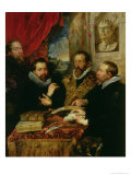The Four Philosophers  the Artist  His Brother Philip  Justus Lipsius and Jan Van Der Wouwere