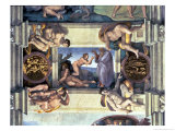 Sistine Chapel Ceiling: Creation of Eve  with Four Ignudi  1510