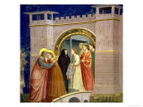 The Meeting at the Golden Gate  circa 1305 Gate in Jerusalem  circa 1305