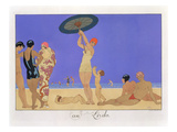 At the Lido  Engraved by Henri Reidel  1920 (Litho)