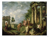 Peasants Amongst Roman Ruins  1743