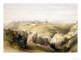 "Jerusalem from the Mount of Olives  April 8th 1839  Plate 6 from Volume I of ""The Holy Land"""