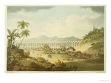 "Arcos De Carioco  or Grand Aqueduct in Rio De Janeiro  Plate 5 from ""A Voyage to Cochinchina"""