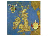 "Map of the Sixteenth Century British Isles  from the ""Sala Delle Carte Geografiche"""