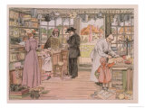"""The General Store  from """"The Book of Shops """" 1899"""