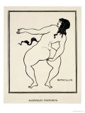 "Bathyllus Posturing  Illustration from ""The Sixth Satire of Juvenal "" 1896"