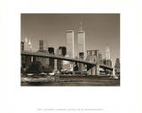 World Trade Center over Brooklyn Bridge