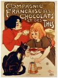 Compagnie française des chocolats et des thés Giclée par Théophile Alexandre Steinlen