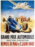 Grand Prix Automobile Nimes Giclée par Geo Ham
