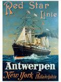 Red Star Linie: Antwerpen  New York  Philadelphia