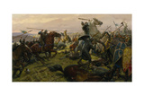 Oil Painting of the Battle of Hastings