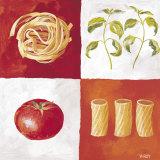 Italian Pasta Reproduction d'art par Valerie Roy