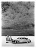 Hudson Hornet, Salt Flat Racer Giclée par David Perry