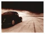 1940 Coupe Salt Flat Racer Giclée par David Perry