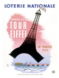French Lottery, Eiffel Tower Giclée