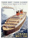 Cunard Line  Queen Elizabeth  Queen Mary