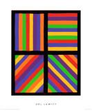 Color Bands in Four Directions, c.1999 Giclée premium par Sol Lewitt