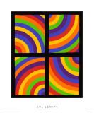 Color Arcs in Four Directions, c.1999 Giclée premium par Sol Lewitt